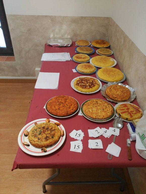 Platos del concurso de tortilla de patatas