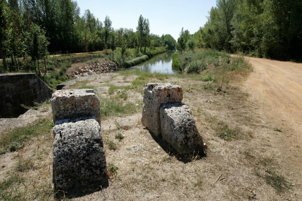 El Canal de Castilla, cabestrante sexta esclusa