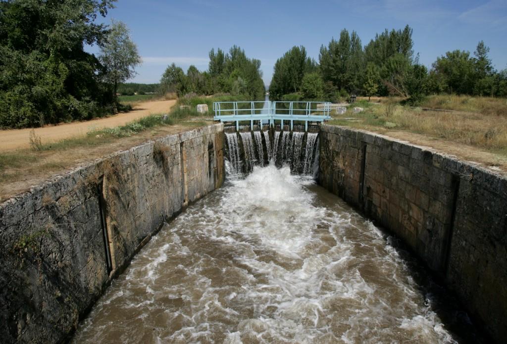 El Canal de Castillasexta esclusa