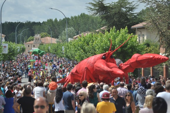 Vista del comienzo del Desfile