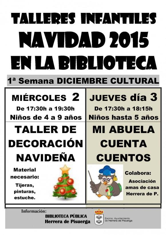 Cartel taller navideño 2015