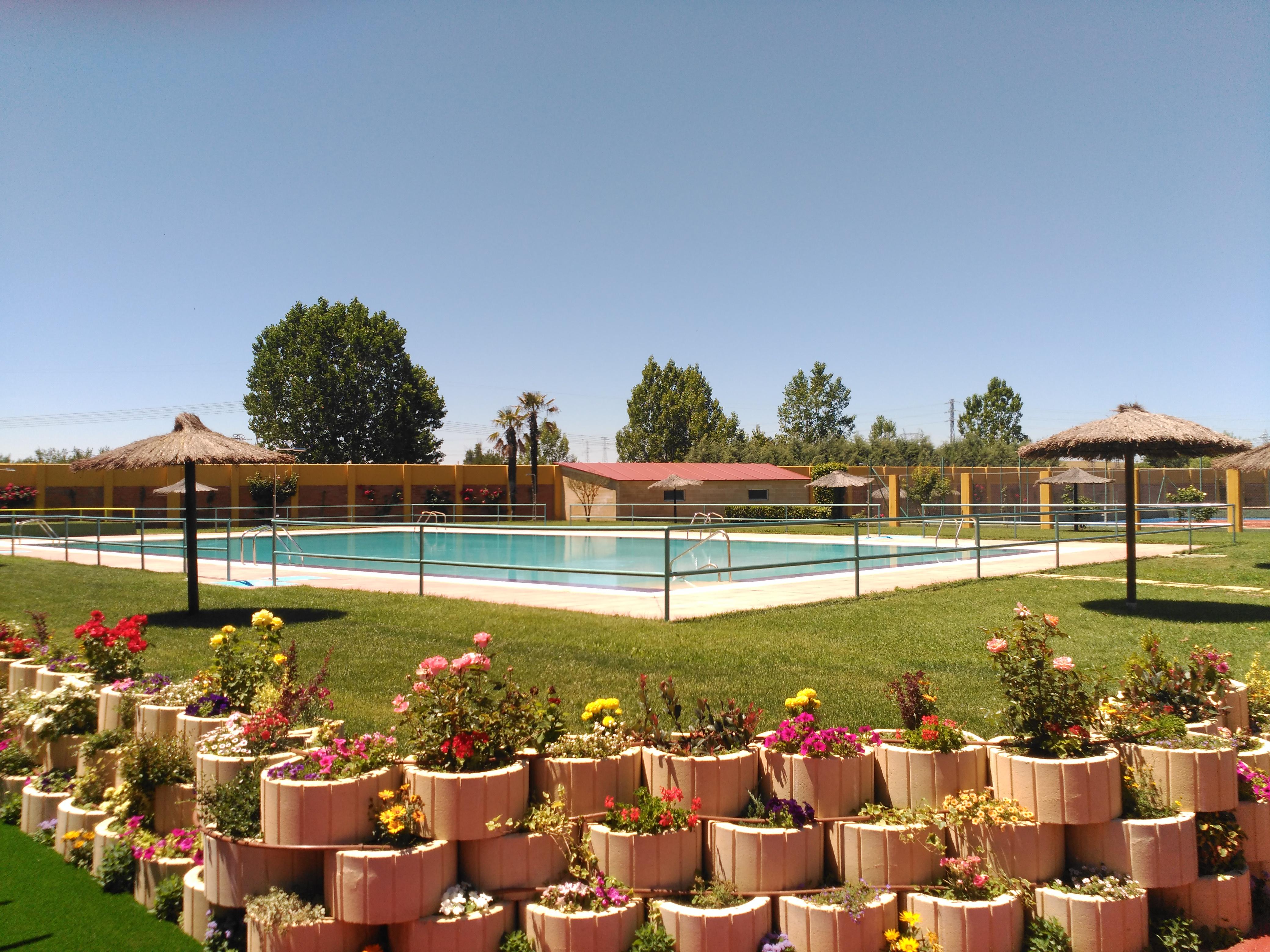 Vista de las piscinas